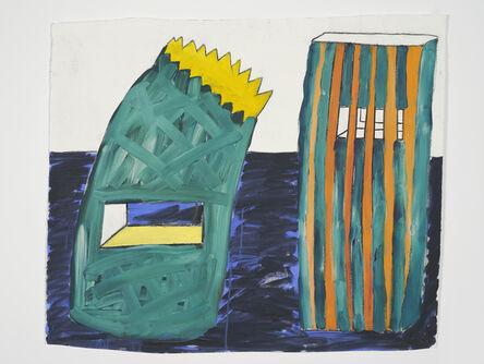 Lubaina Himid, 'Paper Bag Buildings', 1998