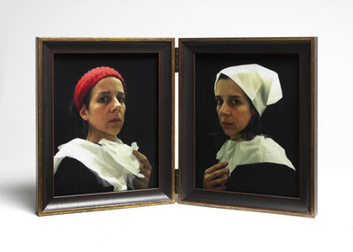 """Nina Katchadourian, 'Lavatory Self-Portraits in the Flemish Style #20-21 (""""Seat Assignment"""" project, 2010--ongoing)', 2015"""