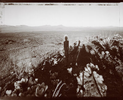 Mark Klett, 'Self portrait with Saguaro about my same age, Pinacate Sonora 10/29/99', 1999
