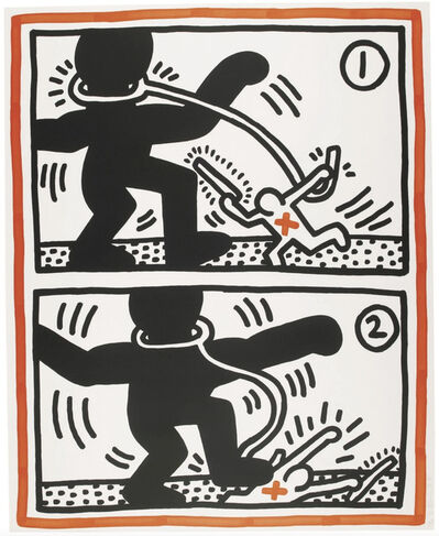 Keith Haring, ' Untitled 3 ('Free South Africa')', 1985