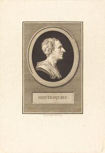 Augustin de Saint-Aubin, 'Charles Louis de Secondat Montesquieu', 1803