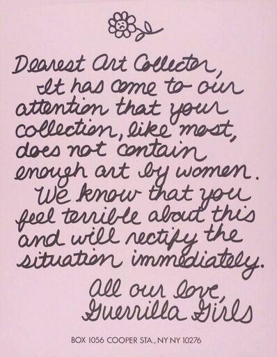 Guerrilla Girls, 'Dearest Art Collector', 2015