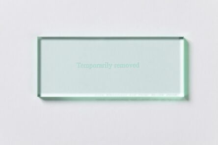 Anna Blessmann and Peter Saville, 'Temporarily Removed', 2008