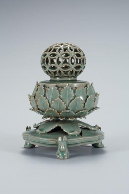 Unknown Goryeo, 'Celadon Incense Burner Openwork Seven Auspicious Design', 12th century