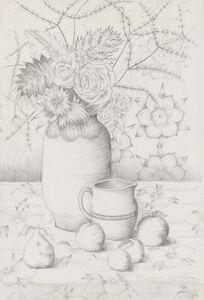 Natalia Goncharova, 'Still life with flowers and fruit', 1935