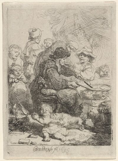 Rembrandt van Rijn, 'The Pancake Woman', 1635