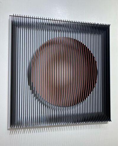 J. Margulis, 'J. Margulis - Orange moon - kinetic wall sculpture ', 2020