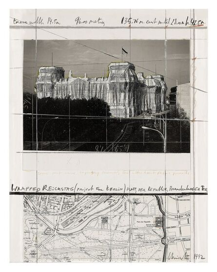 Christo, 'Wrapped Reichstag, Project for Berlin', 1992