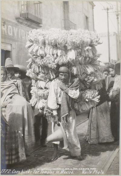 CHARLES BETTS WAITE, 'Corn Husks for Tamales', 1906