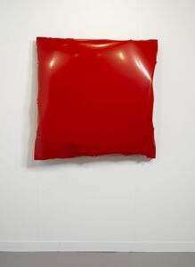 Angela de la Cruz, 'Battered IV (Red)', 2012