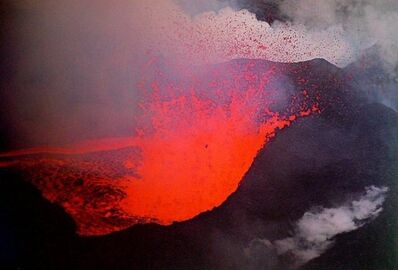 Ernst Haas, 'Surtsey Volcano, near Iceland, From the Creation Portfolio published by Daniel Wolf Press in 1981', 1965