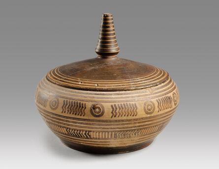 Unknown Greek, 'Ancient Geometric Greek Lidded Pyxis', 800 BCE-750 BCE