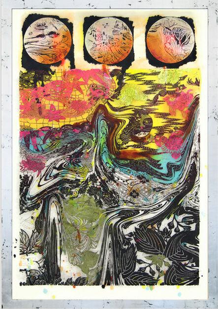 """Judy Pfaff, '""""The three fishes""""', 2017"""