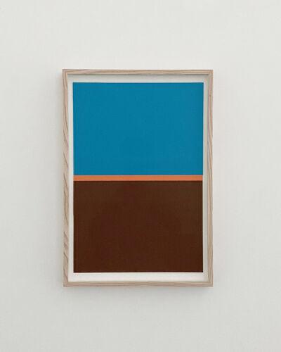 JES, 'BLUE, ORANGE, BROWN', 2020