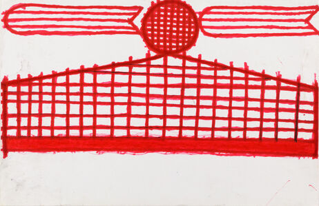 Evelyn Reyes, 'Fence with Carrots (Red)', 2003