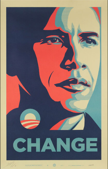 Shepard Fairey, 'Change - Obama (artist signed edition of 200 & Includes COA from The Office of the Vice President Elect)', 2008