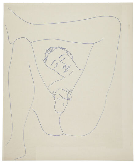 Andy Warhol, ' MALE PARTIAL FIGURE', ca. 1956