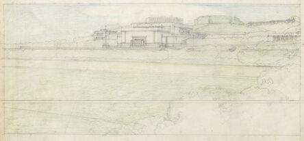 Frank Lloyd Wright, 'Elevation View; Barnsdall Theater. Olive Hill, Los Angeles, CA ', 1917-1920