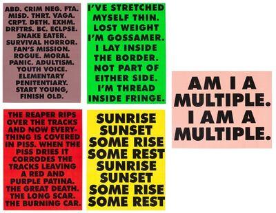 Sterling Ruby, 'ABDUCTION/ GOSSAMER/ MULTIPLE/ THE REAPER/ SUNRISE  SUNSET SOME RISE SOME REST', 2015