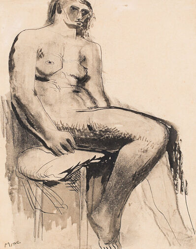 Henry Moore, 'Seated Nude', 1929
