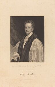 Thomas Woolnoth after Thomas Phillips, 'Rev. Reginald Heber, D.D.', published 1831