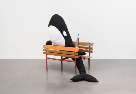 Cosima von Bonin, 'KILLER WHALE WITH LONG EYELASHES 2 (SCHOOL DESK VERSION)', 2018