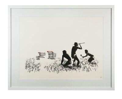 Banksy, 'Trolleys (Black and White)', 2007