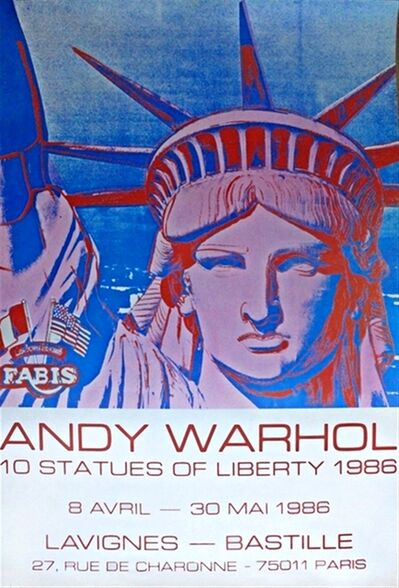 Andy Warhol, '10 Statues of Liberty, Paris', 1986