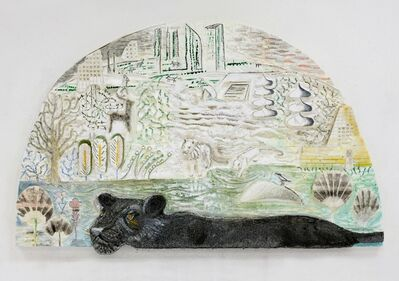 Lin May Saeed, 'Panther Relief', 2017