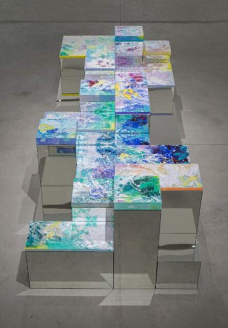 """Ana D' Castro, '""""Seating on a cloud in paradise""""; Montage', 2021"""