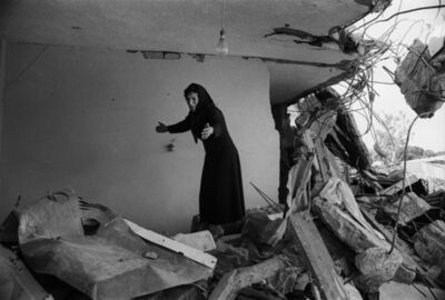 Don McCullin, 'A Palestinian Woman returning to the ruins of her house, Sabra, Beirut', 1982