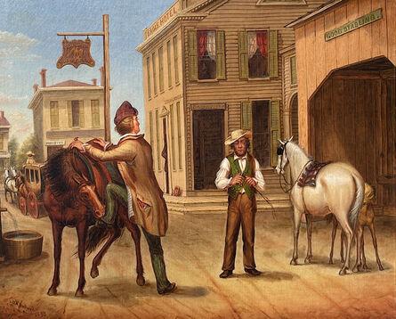 Otis Bullard, 'Horse Trade Scene, Cornish Maine', 1853