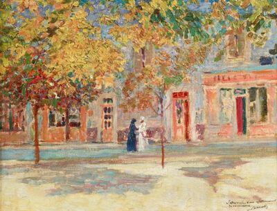 Victor L. Charreton, 'The Village Square', ca. 1905