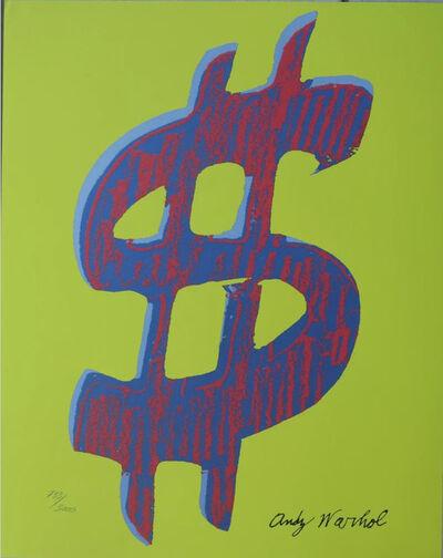 Andy Warhol, 'Dollar Sign $, Yellow', 1986