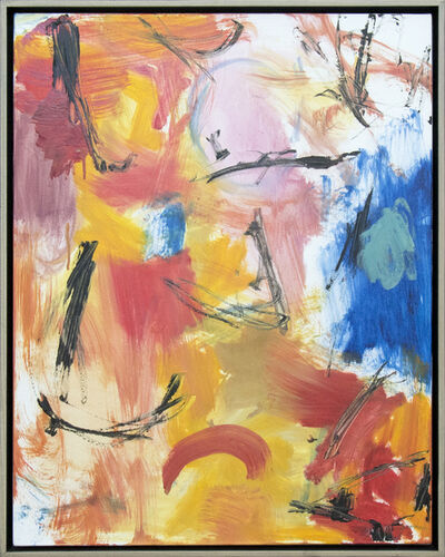 Scott Pattinson, 'Denouement No 53 - warm, bright, colourful, gestural, abstract, oil on canvas', 2016