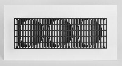 Antonio Asis, '3 Cercles noir et blanc', 2014