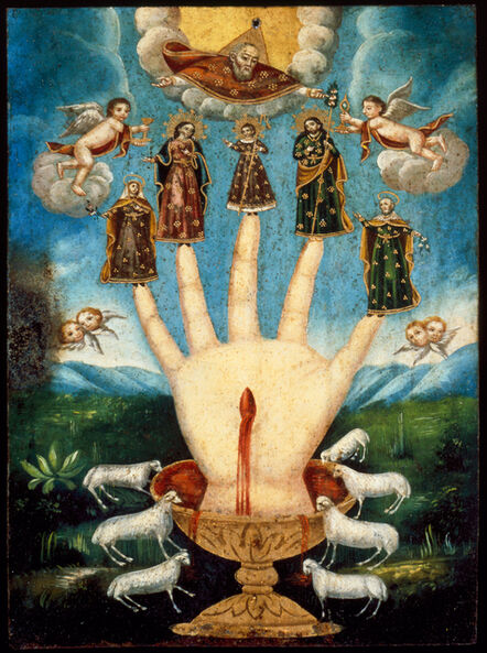 'Mano Poderosa (The All-Powerful Hand), or Las Cinco Personas (The Five Persons)', 19th century