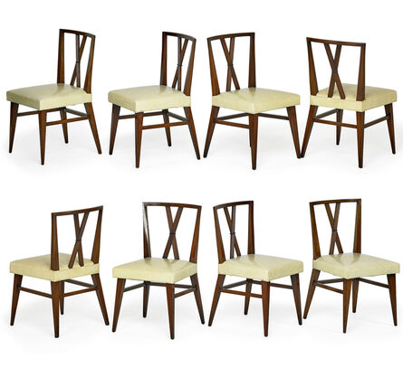 Tommi Parzinger, 'Set of eight dining chairs, USA', 1950s