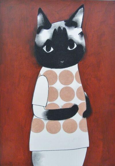 Katsunori Miyagi, 'Dots Siamese cat', 2016