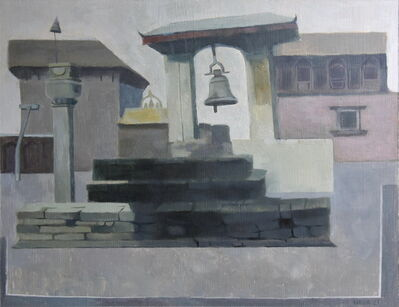 Niva Shrestha, 'Taleju Bell and Nge Nyapa Jhya Laaykoo (Taleju Bell and The Palace of Fifty-five Windows)', 2021