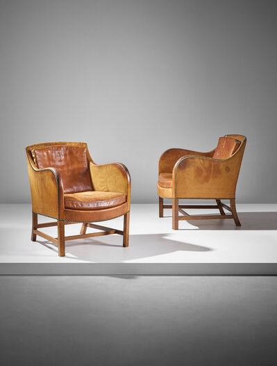 Kaare Klint and Edvard Kindt-Larsen, 'Pair of 'Mix' easy armchairs, model no. 4396', designed 1930, executed 1932, 1933