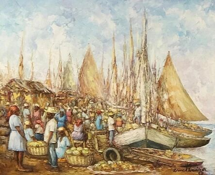 Ernst Louizor, 'Market at Port', ca. 2000