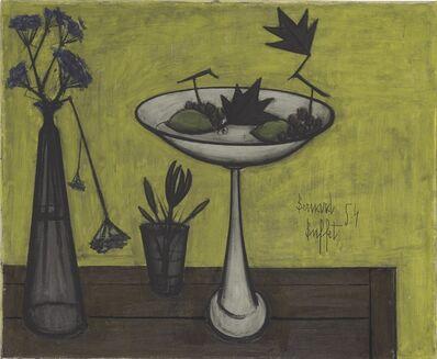 Bernard Buffet, 'Compotier et vase de fleurs', 1954