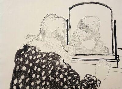 David Hockney, 'Ann Combing Her Hair', 1979