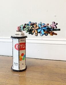 "Bill Barminski, '""Flower Spray Can""', 2019"