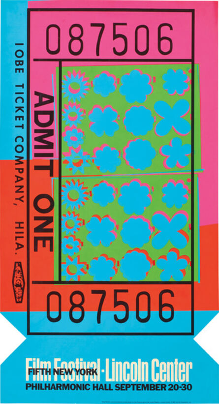 Andy Warhol, 'Lincoln Center Ticket (F. & S. 19)', 1967