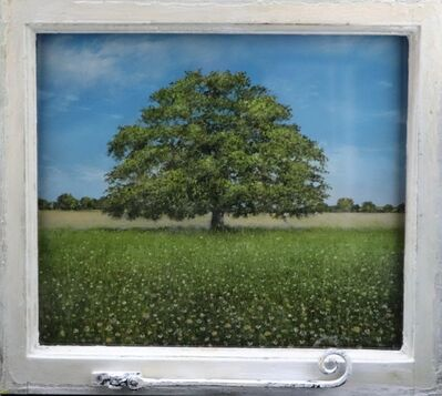 Garry Pereira, 'View of the Ancient Oak - contemporary landscape in reclaimed frame', 2020