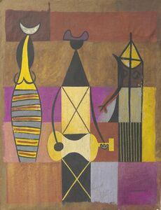 Mario Carreño, 'Personajes geometricos', 1949