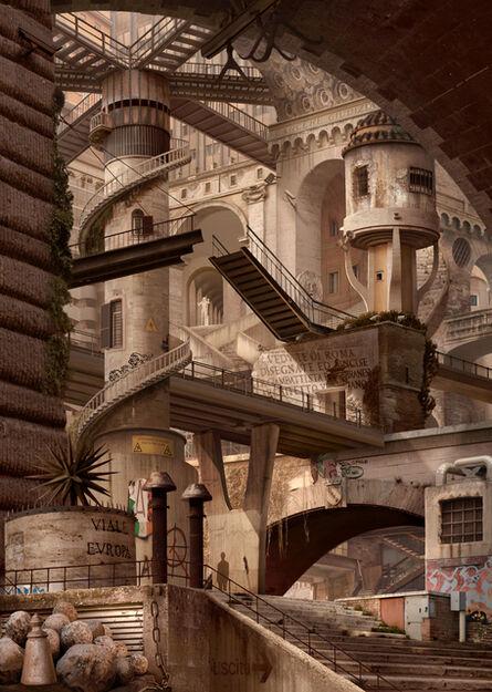 Emily Allchurch, 'Urban Chiaroscuro IV; Rome (after Piranesi)', 2007
