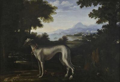 Michelangelo Pace, called Michelangelo di Campidoglio, 'A Greyhound in a Landscape', 1664